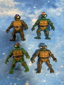 Teenage Mutant Ninja Turtles Set Of 4 Mini Figures Playmates 2002 rare