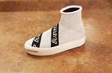 New! Alexander Wang 'Pia' Logo Sock Sneakers White Womens 6 US 36 Eur MSRP $395