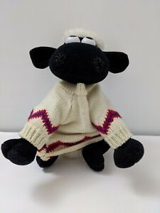 VINTAGE 1989 WALLACE AND GROMIT SHAUN THE SHEEP IN SWEATER SOFT PLUSH TOY
