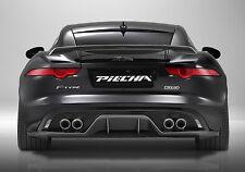 JAGUAR F TYPE PIECHA REAR DIFFUSER QUAD EXHAUST CARBON FIBER GENUINE V8 2013-ON