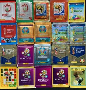 Panini Sticker Packets Various Editions Euro & Word Cup 2008 - 2020 Collection