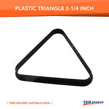 POOL BILLIARDS PLASTIC 8 BALL SNOOKER 15 BALL TRIANGLE FREE DELIVERY 2-1/4 INCH