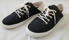 Womens Size 8.5M Black White Tommy Hilfiger Canvas Shoes preowned