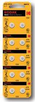Pila KODAK LR44 A76 AG13 - Alcalina - Calculadoras - Relojes - Pack De 10 Pilas