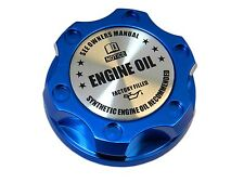 BLUE SYNTHETIC BILLET RACING ENGINE OIL FILLER CAP FOR 05-12 FORD MUSTANG SL