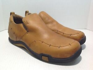 Mecca Mens Size 11.5 Uptown Caramel/Brown Leather Loafers Shoes #M103838