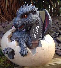 DRAGON Baby Drago nell' uovo Vivid Arts ornamentale da giardino indoor / outdoor