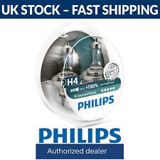 Philips XTREME VISIÓN +130% más de luz H4 Faro Bulbos (paquete doble de bombillas)