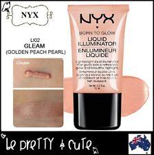 NYX Born To Glow Liquid Illuminator LI02 GLEAM (Golden Peach Pearl) Highlighter