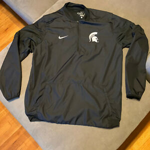 Nike Storm Fit Michigan State Spartans Windbreaker Jacket Mens Large Black Adult