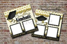 Graduation School College 2 PRINTED Premade Scrapbook Pages BLJgraves 25
