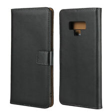 Genuine Leather Wallet Flip Case Cover For Samsung Galaxy Note 9