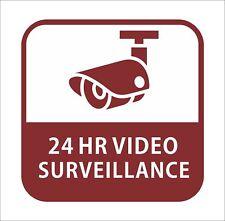CCTV 24 Hour Video Surveillance Sticker Decal Graphic Vinyl Car Hard Hat Decor