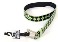 Fall Out Boy Argyle Green Print Black Faux Leather Belt New Official Band Merch