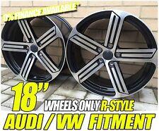 """18"""" BLACK POL R STYLE ALLOY WHEELS FIT VW PHAETON GOLF MK5 MK6 MK5 GTI TDI GT"""