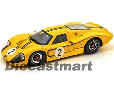 SC424 1967 FORD GT MK IV YELLOW 2 LEMANS DONOHUE/MCLANE 1:18 SHELBY COLLECTIBLES
