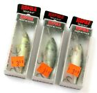 Lot of 3 Colors Old Stock Rapala Shad Rap SR-7 Deep Runner Fishing Lures, Read