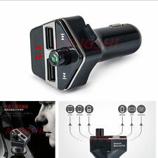 Car MP3 Player Wireless Bluetooth FM Transmitter Radio USB Charger Voice Prompt