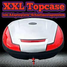 XXL Top Case Motorradkoffer Rollerkoffer Scooter Topcase SILBER Koffer 50 L