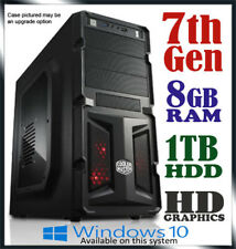 Intel Dual Core Gaming Computer 8GB Ram 1TB Office Desktop System PC i3 i5 i7