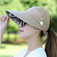 Hats Sun Visor Women No Headache Foam Black White Blue Baseball Pool Soccer Wide