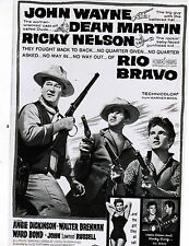RIO BRAVO: packet (various clippings +pressbook ad's PLUS empty VHS original BOX