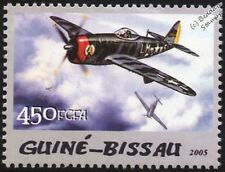 WWII Republic P-47 / P-47D D-25 Thunderbolt Fighter Aircraft Stamp