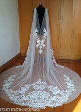 Ivory Applique Detachable Capes Princess Long Removable Wedding Pageant Cloak