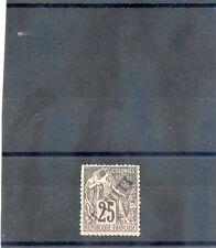 TAHITI Sc 13(YT 15)**VF NH, 1893 25c BLACK/ROSE, $375