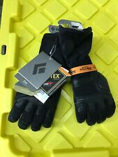 New Men's Black Diamond Crew Gloves - Size Small
