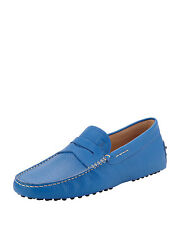100% Auth New Men Tods Gommini Nuovo Blue Penny Drivers/Moccasin Uk 8.5/Us 9.5 D