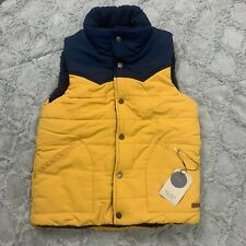 Zara Boys Puffer Vest Reversible Yellow And Blue Size 11-12 NWT