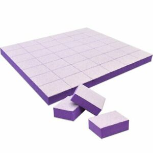 Tachibelle 150 pcs Purple Mini Buffer Blocks Double-Sided