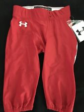 Under Armour Men's Football Pants NWT Large Red White UFP560M