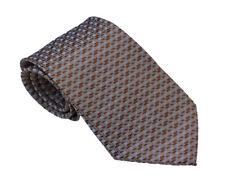 Men's light brown geometric pattern  woven tie