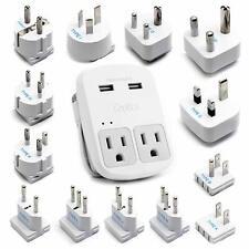 Ceptics World Travel Adapter Kit | 2 Usb + 2 Us Outlets - 13 Adapter Set
