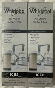 Whirlpool F2WC9I1 ICE 2 Ice Maker Water Filter New Genuine Sealed Twin Pack