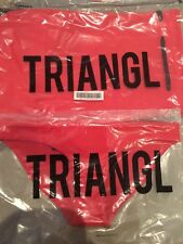 Triangl / Bikini BOTTOM & Carry Bag/GIGI RED Velvet /size XXSmall Brand NEW!!