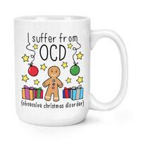 Christmas OCD 15oz Large Mug Cup - Funny Xmas Joke Secret Santa Big