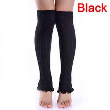 Fashion Women Girl Winter Long Leg Warmers Knit Crochet Leggings Stockings-Socks