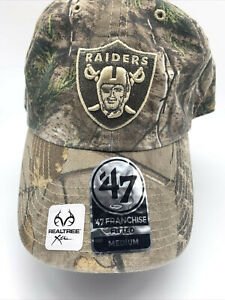 Oakland Raiders '47 Realtree Camo Frost MVP Medium Field Hat Cap NFL