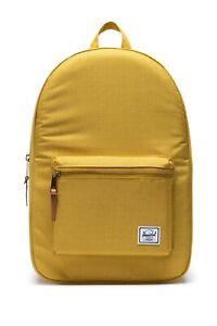 NWT Herschel Supply Co. Settlement Backpack Arrowwood Yellow Logo Patch Bag