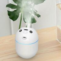 220ml Portable Mini Air Humidifier Purification USB For Office Home LED T1Y5
