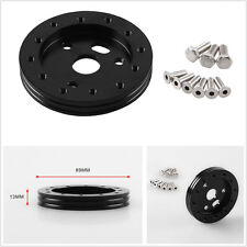 "Practical Black Aluminum 0.5"" Hub For Autos Automobile 5 & 6 Hole Steering Wheel"