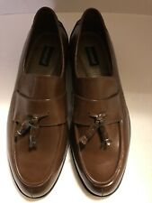 Botany Brown Leather Tassle Loafers Size 13 Wide New (#71)