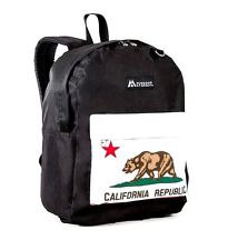 Everest Large Backpack California Republic Black-NEW