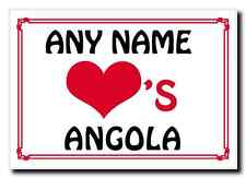 Love Heart Angola Personalised Jumbo Magnet