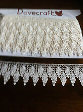 NEW GUIPURE  LACE TRIM  BLACK/WHITE /CREAM 3 1/2  INCH WIDE FROM £1.50 METER