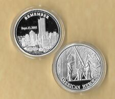 Remember 911 9-11 Challenge Commemorative Medallion Silver Coin New