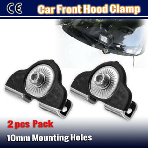 2x Car Front Bonnet Hood Clamp Mounting Brackets Antenna For Spot LED Light Bar